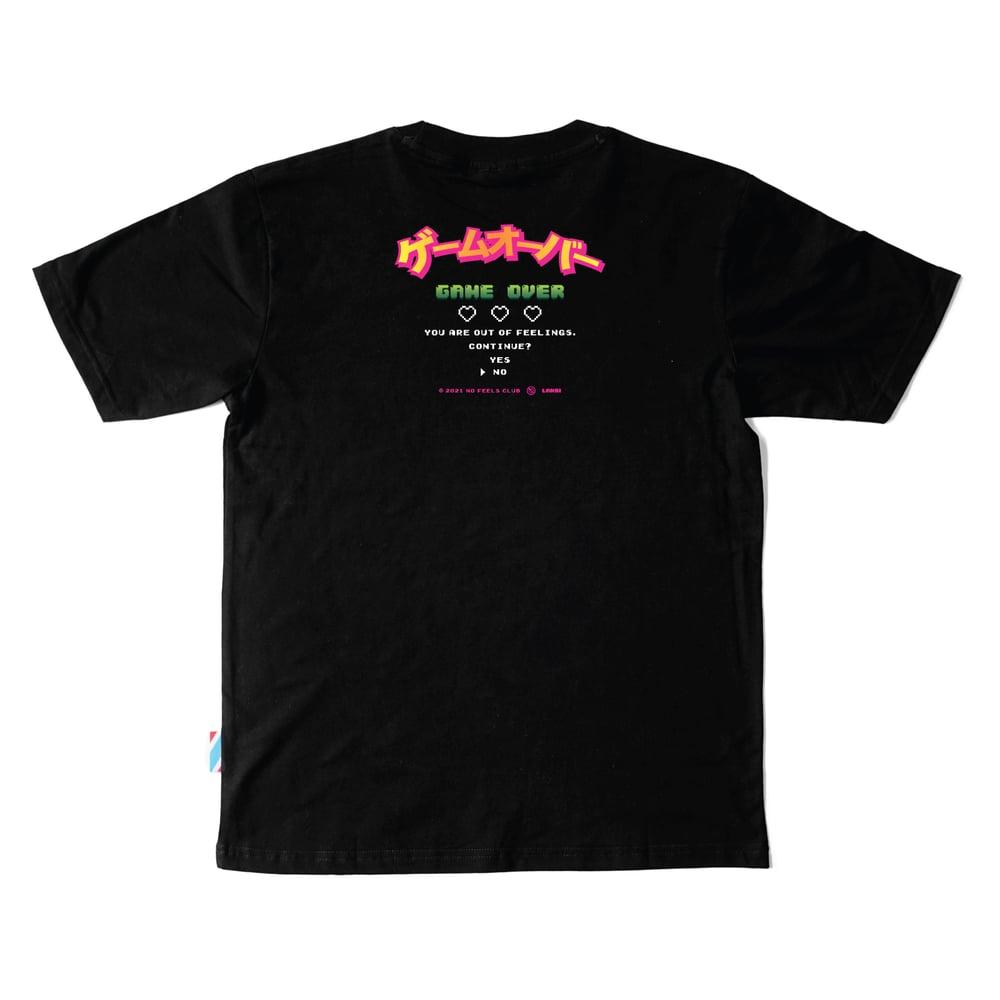 """Image of LANSI """"Game Over"""" T-shirt (Black)"""