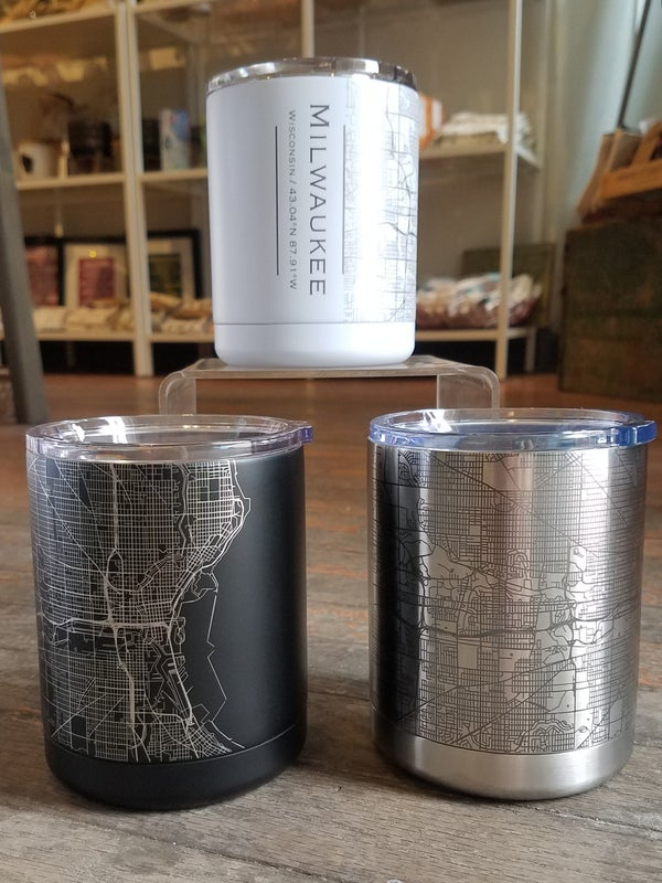 Image of Milwaukee Map Travel Cup