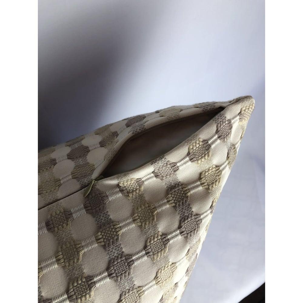 Massoud Designer Fabric Textured Plaid Pillow