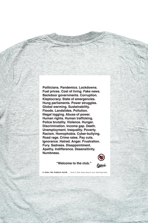 """Image of LANSI """"Numb"""" T-shirt (Melange)"""