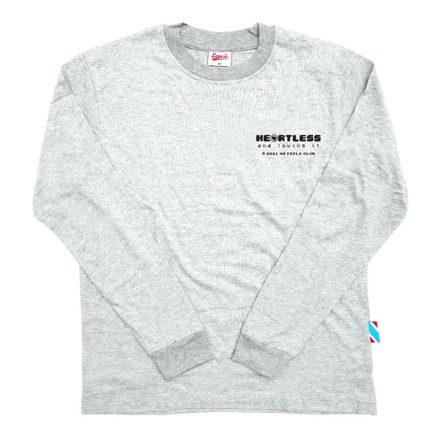 """Image of LANSI """"Heartless"""" Long-Sleeve Shirt (Melange)"""