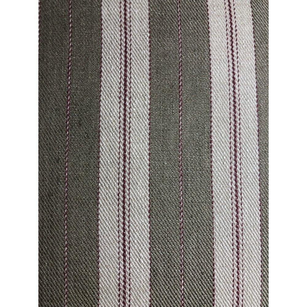 Rogers and Goffigon Designer Woven Stripe Linen Pillow Cover