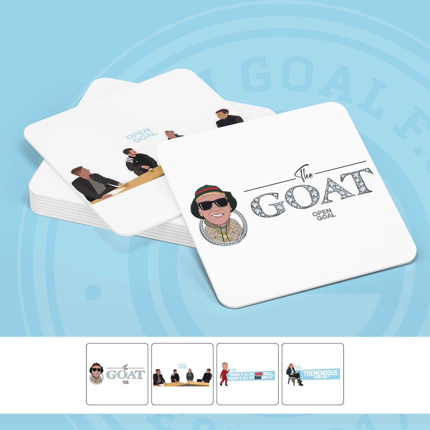 Image of Open Goal Coasters 4 Pack