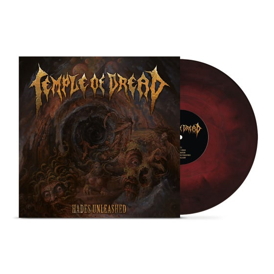Image of Temple of Dread • Hades Unleashed (Blood Red   Black Galaxy Marbled Vinyl)