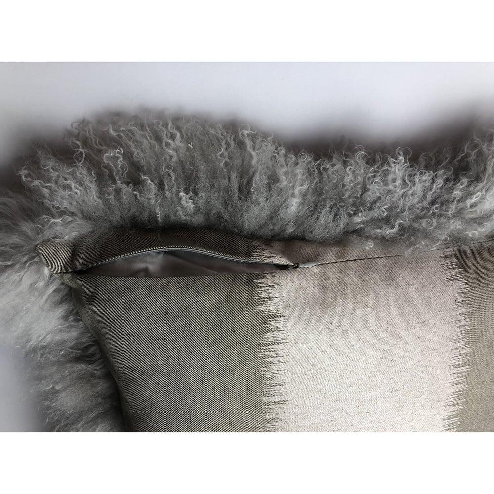 Authentic Cashmere Fur Contemporary Designer Pillow