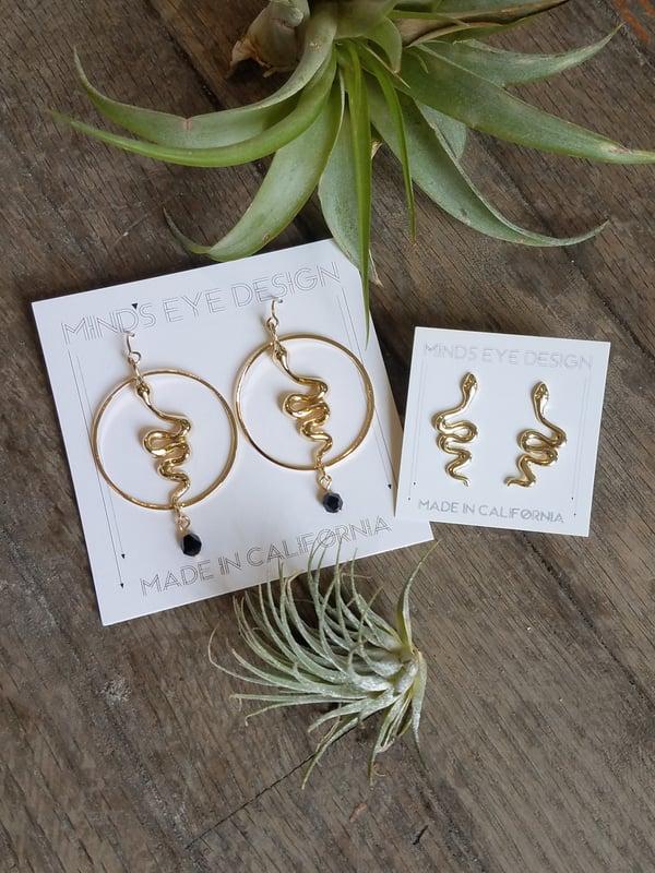 Image of Serpent Stud or Hook Earrings