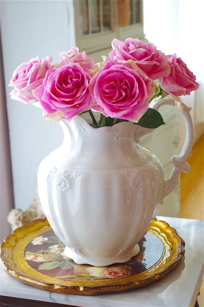 Image of Antique White Pitcher