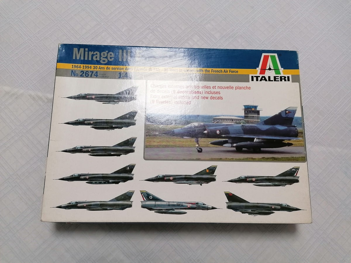 Image of ITALERI 1/48 MIRAGE 3E 30 YERAS IN WITH THE FRENCH AIR FORCE 2674