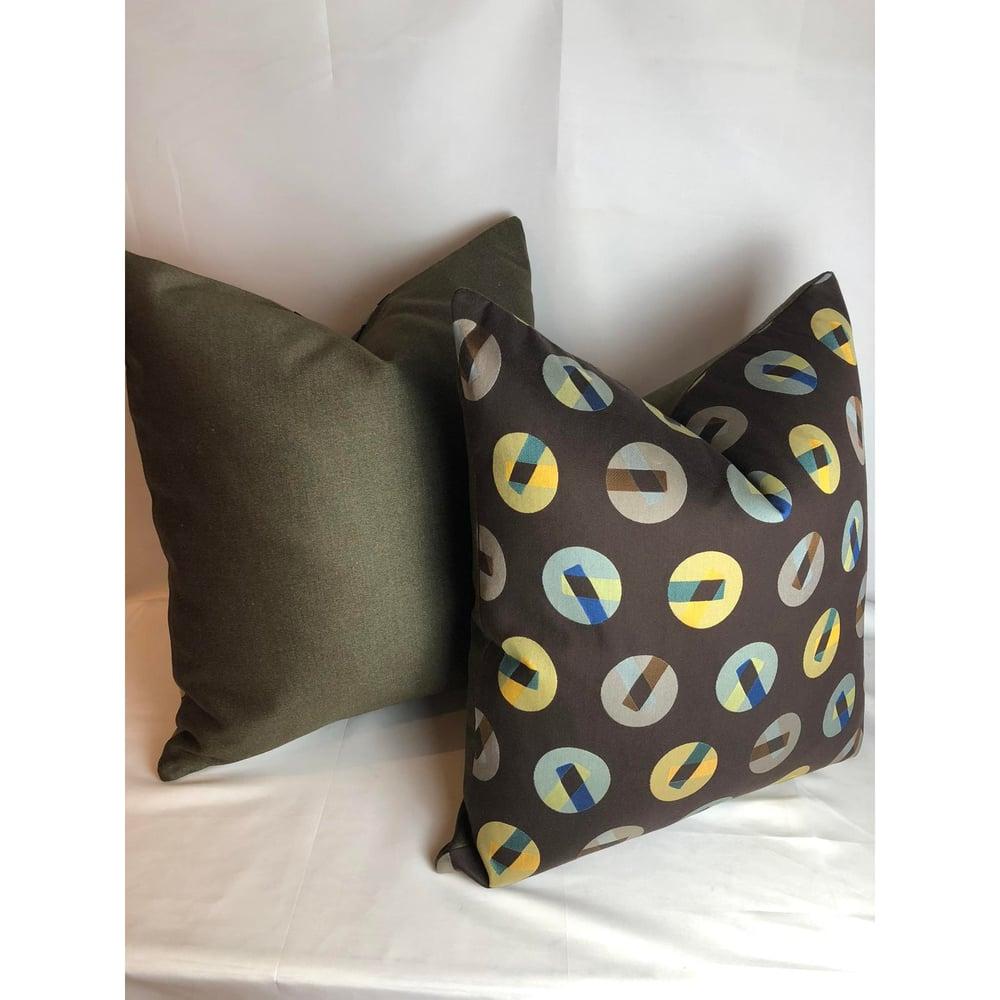 Maharams Fabric Contemporary Modern Designer Pillow