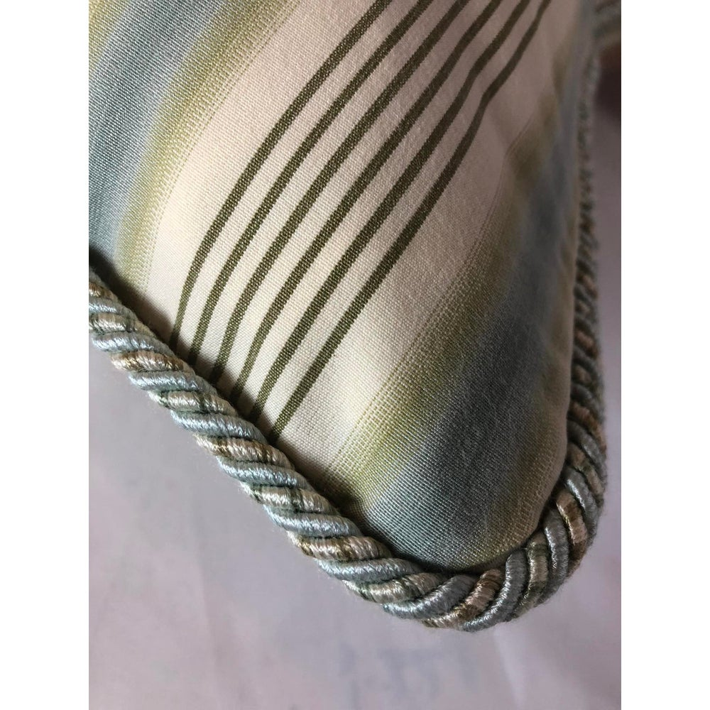 Ralph Lauren Men's Shirting Cotton Stripe Designer Pillow With Down Insert