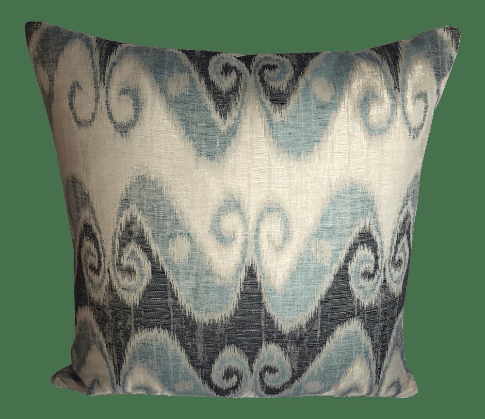 Schumacher Ikat Fabric Designer Pillow