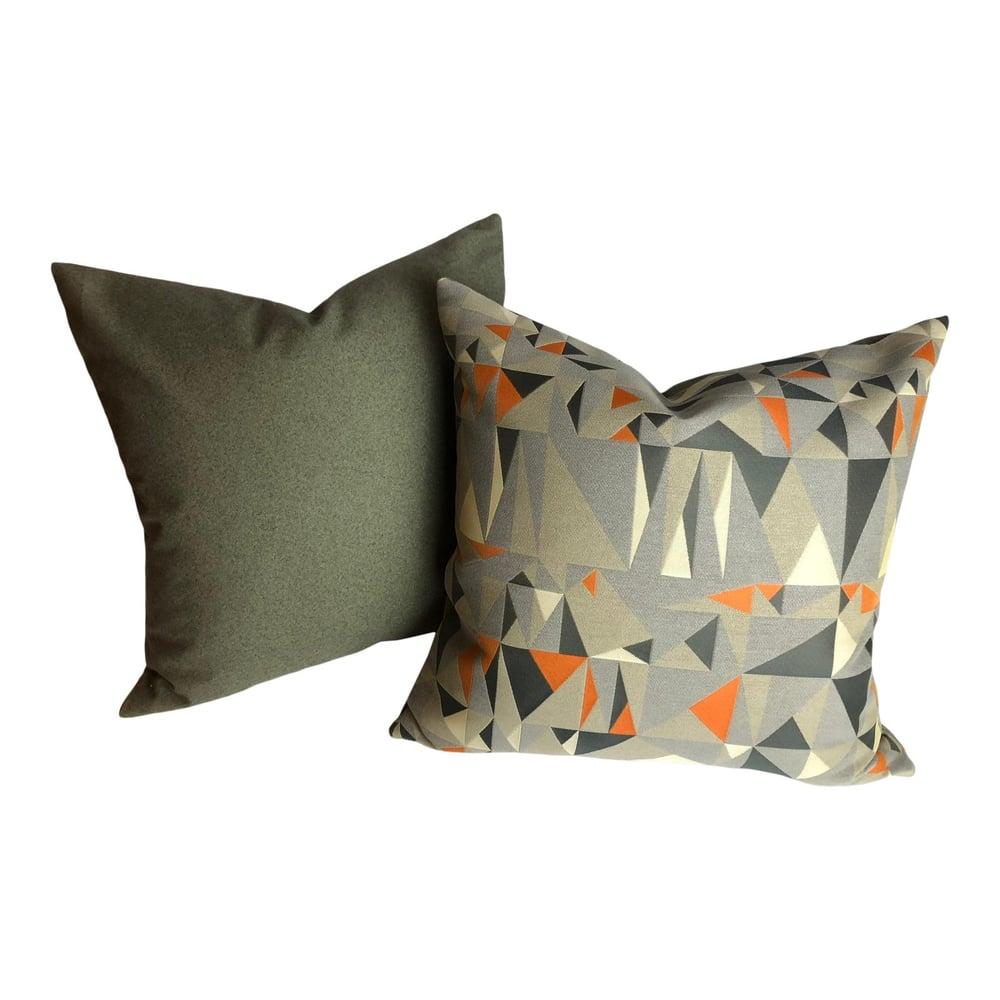 Mid Century Modern Style Fabric Designer Pillows - a Pair
