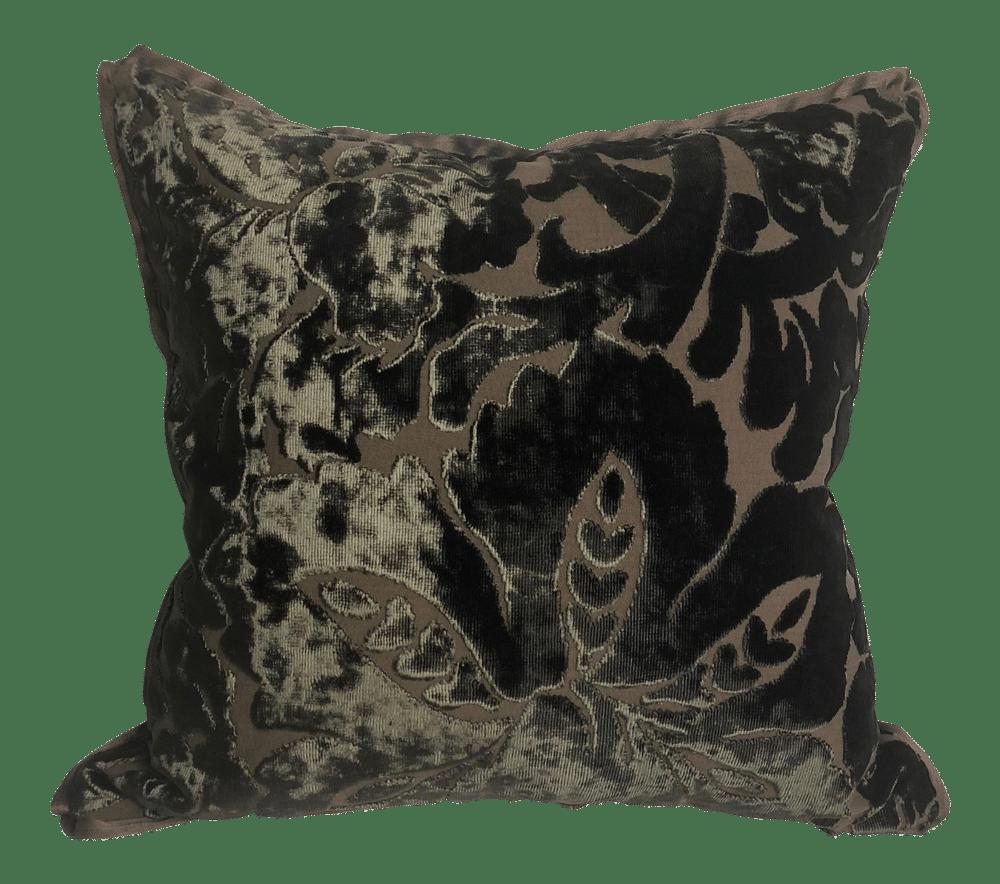 Luxurious Old World Weavers Silk Damask Designer Pillow With 90/10 Down Insert