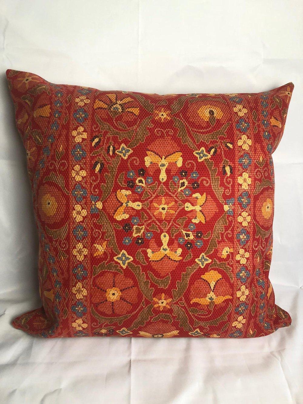 Brunschwig & Fils Designer Pillow With 90/10 Down Insert