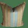 Ralph Lauren Transitional Stripe Cotton and Linen Designer Pillow With 90/10 Down insert