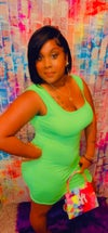 KEEP IT SOLID DRESS LIME GREEN