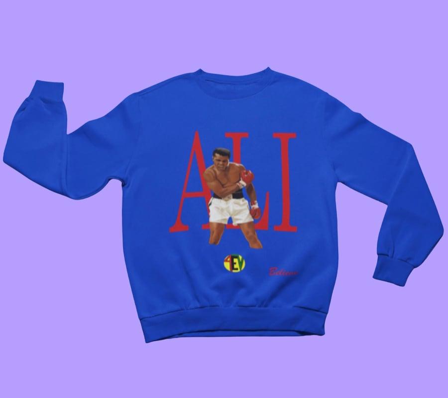 Image of ALI [4EV SWEATSHIRT] (BLUE)