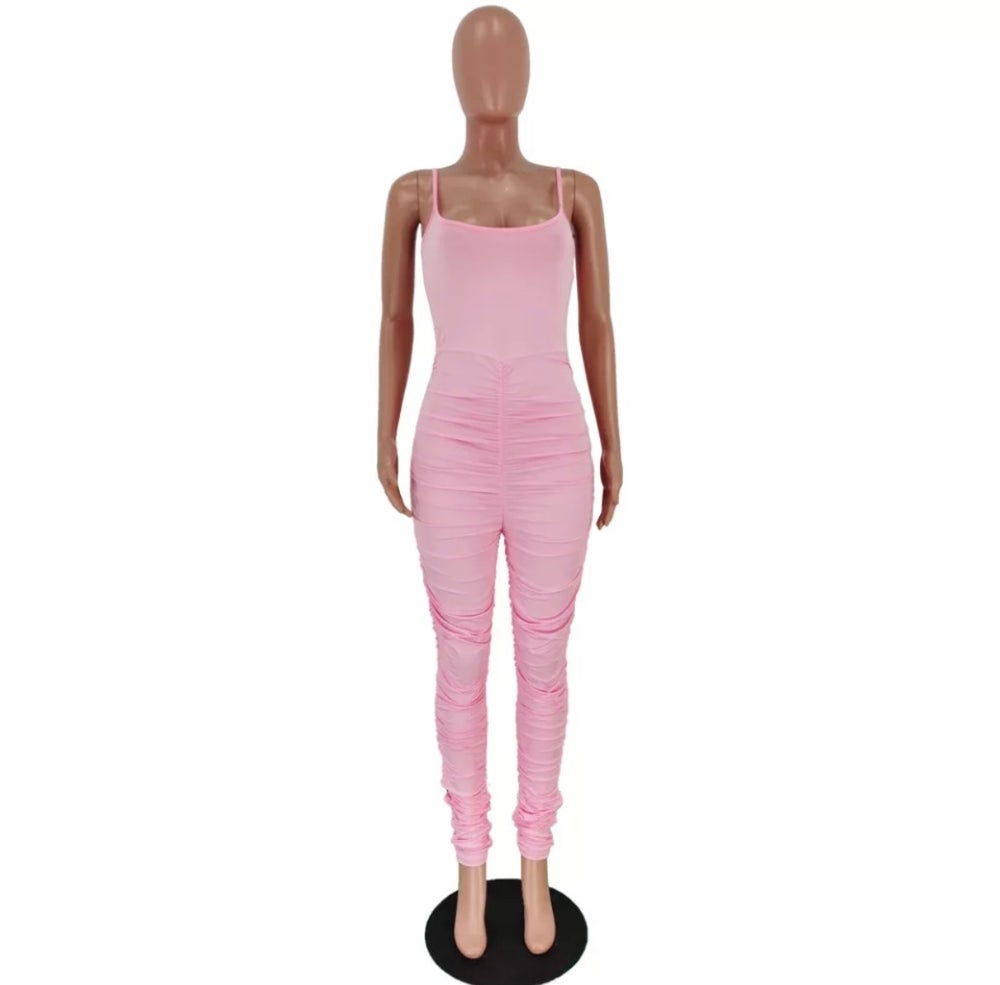 STACKED BODYSUIT (Pink)