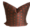 Contemporary Schumacher Pinwheel Silk Designer Pillow With 90/10 Down Insert
