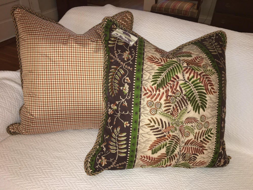 Clarence House Designer Pillow With 90/10 Down Insert