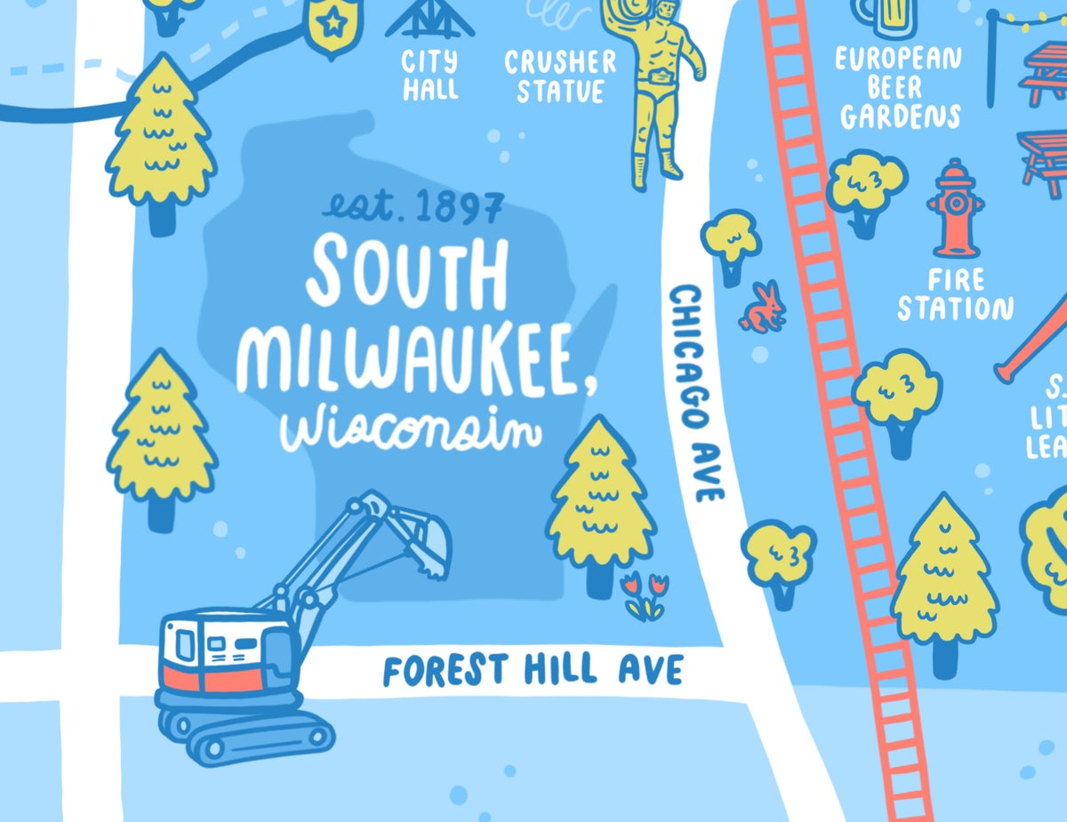 Image of South Milwaukee Map