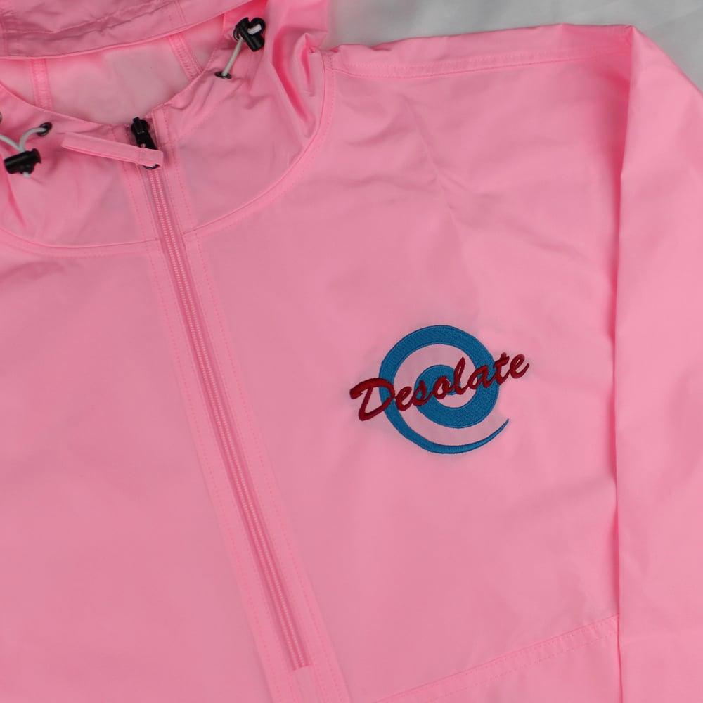 Embroidered Logo Windbreaker (Pink)