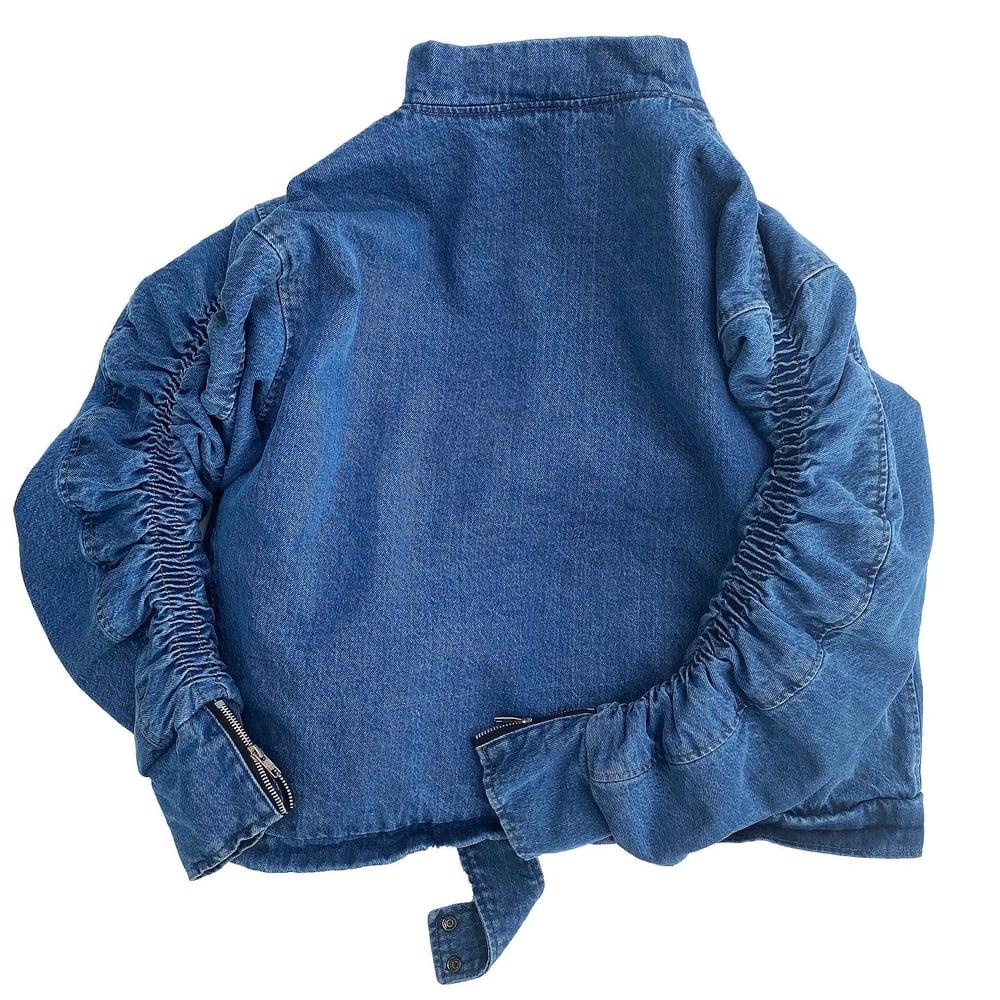Image of Denim Bomber (Blue)
