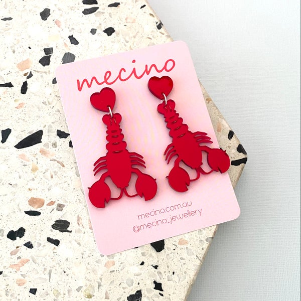 Image of Under the Sea - Mirrored Red Lobsters