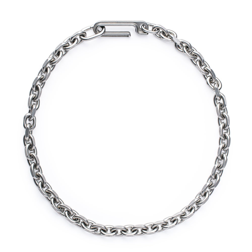Image of DRILLING LAB - Framework Chain Necklace (Matte Silver)