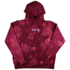 Dyed Embroidered Flame Logo Hoodie (Red)