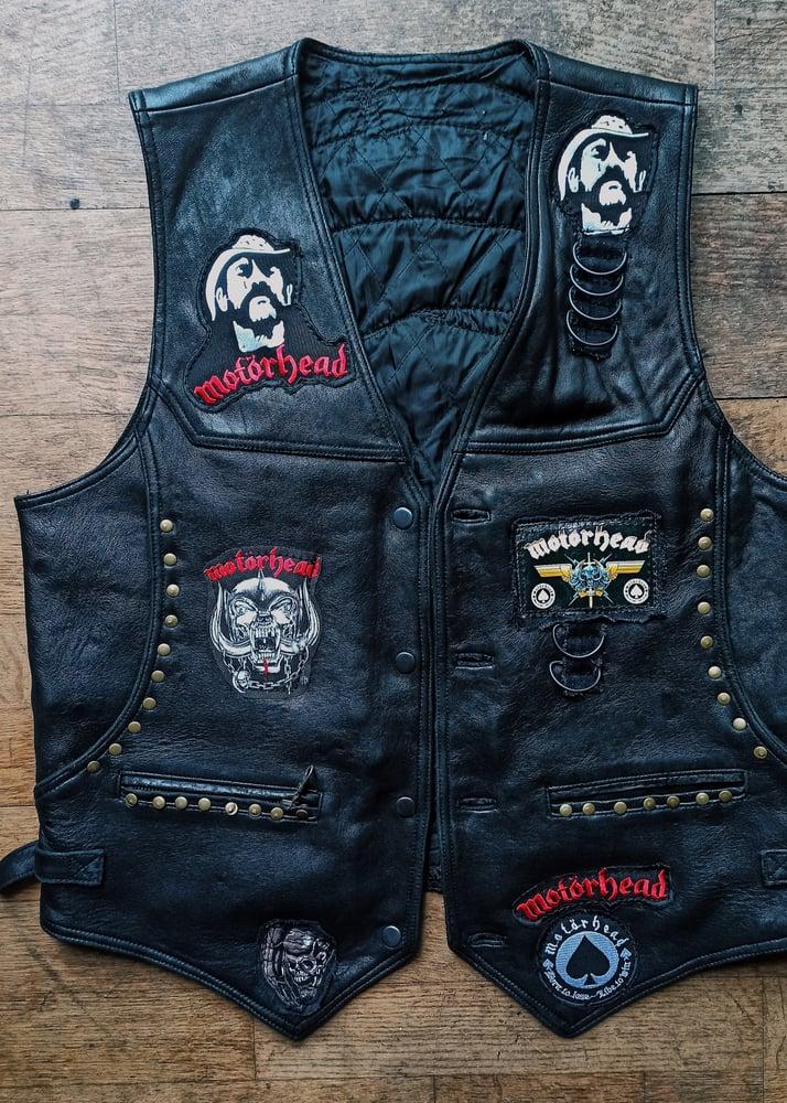 Image of Motorhead Leather Vest