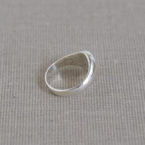 Image of Circle silver signet ring