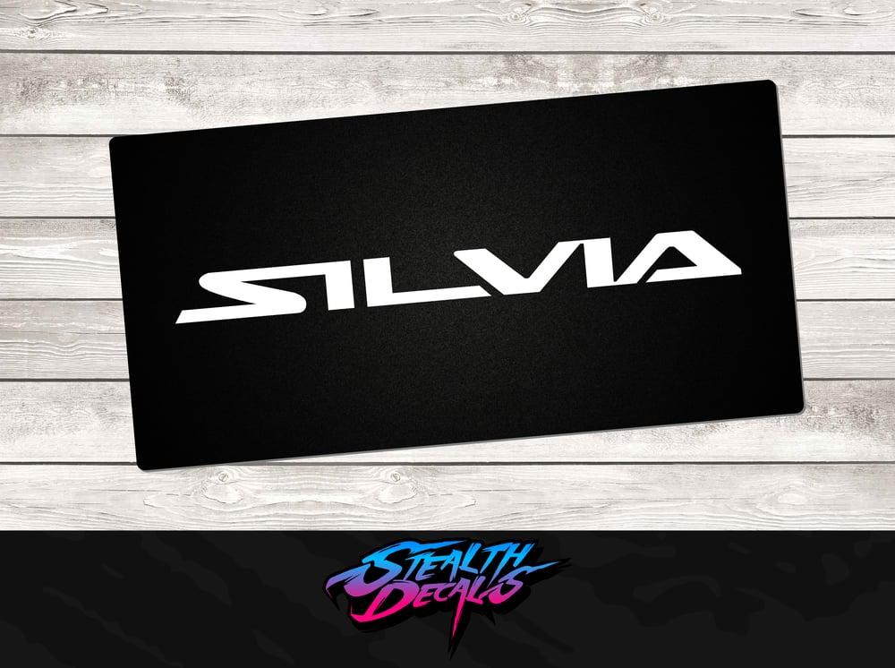 Image of Nissan SILVIA Brochure Vanity Plates x2