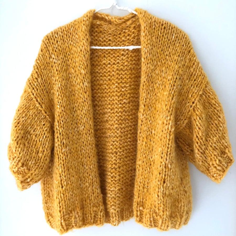 Image of The Emily Cardigan - Mustard yellow