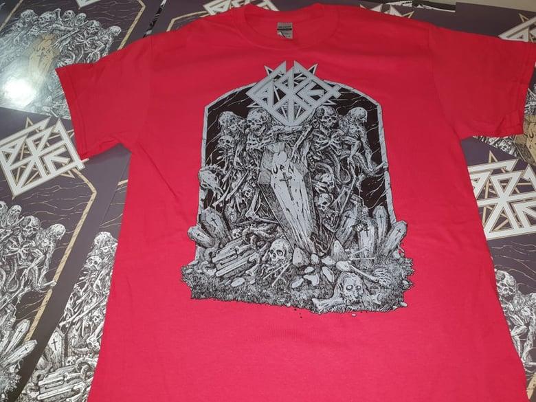 Image of Casket - Urn 30 Years Anniversary Shirt Red