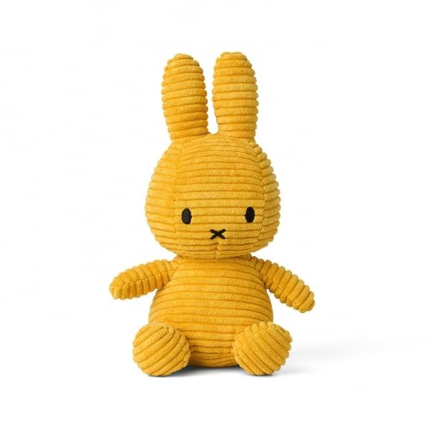 Image of Peluche Miffy Lapin velours cotelé moutarde 24 cm