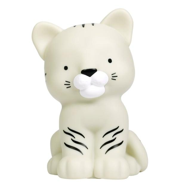 Image of Petite veilleuse tigre blanc