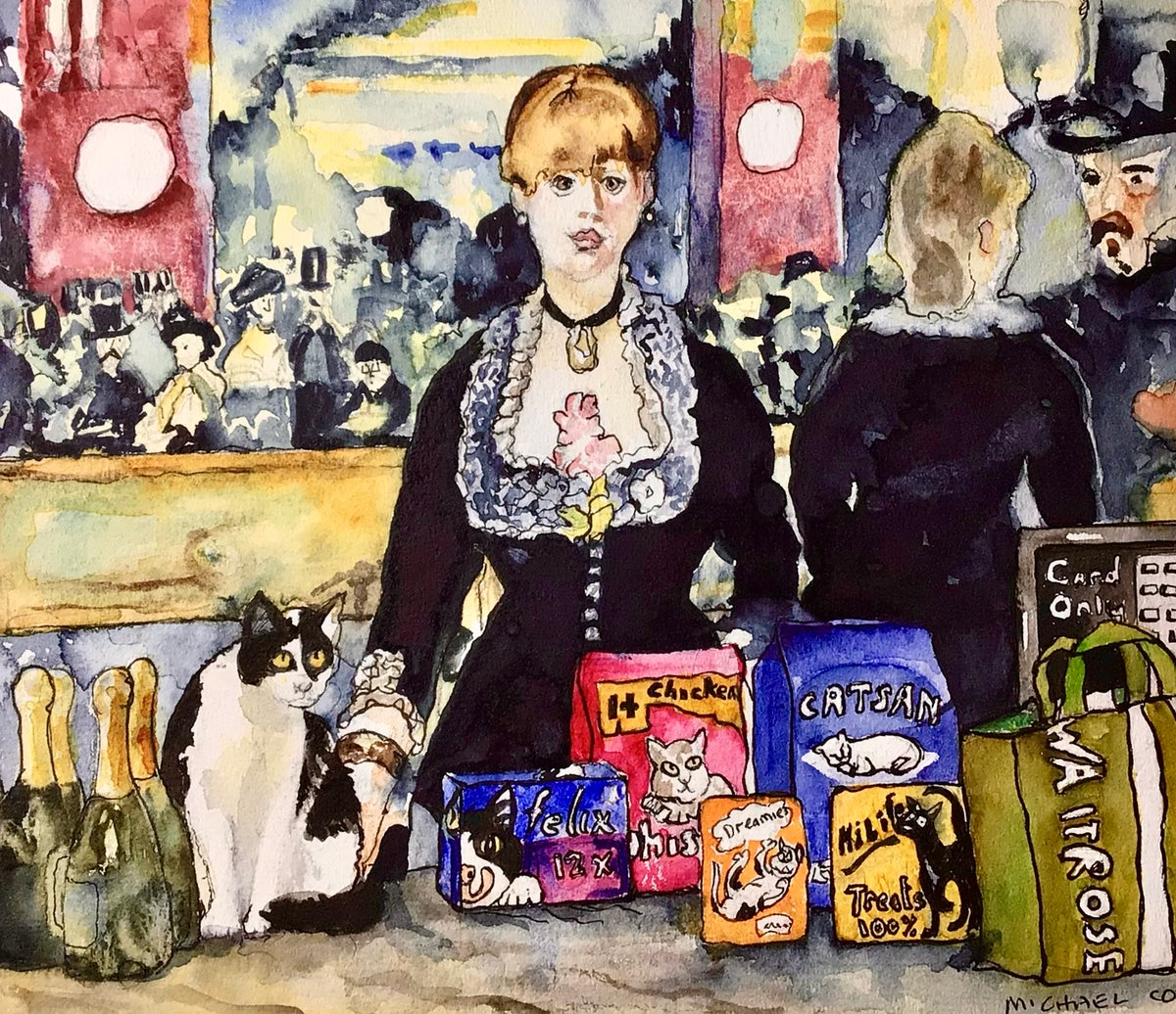 Image of 'The Bar at the Folies Waitrose' Bridget Time Travelling