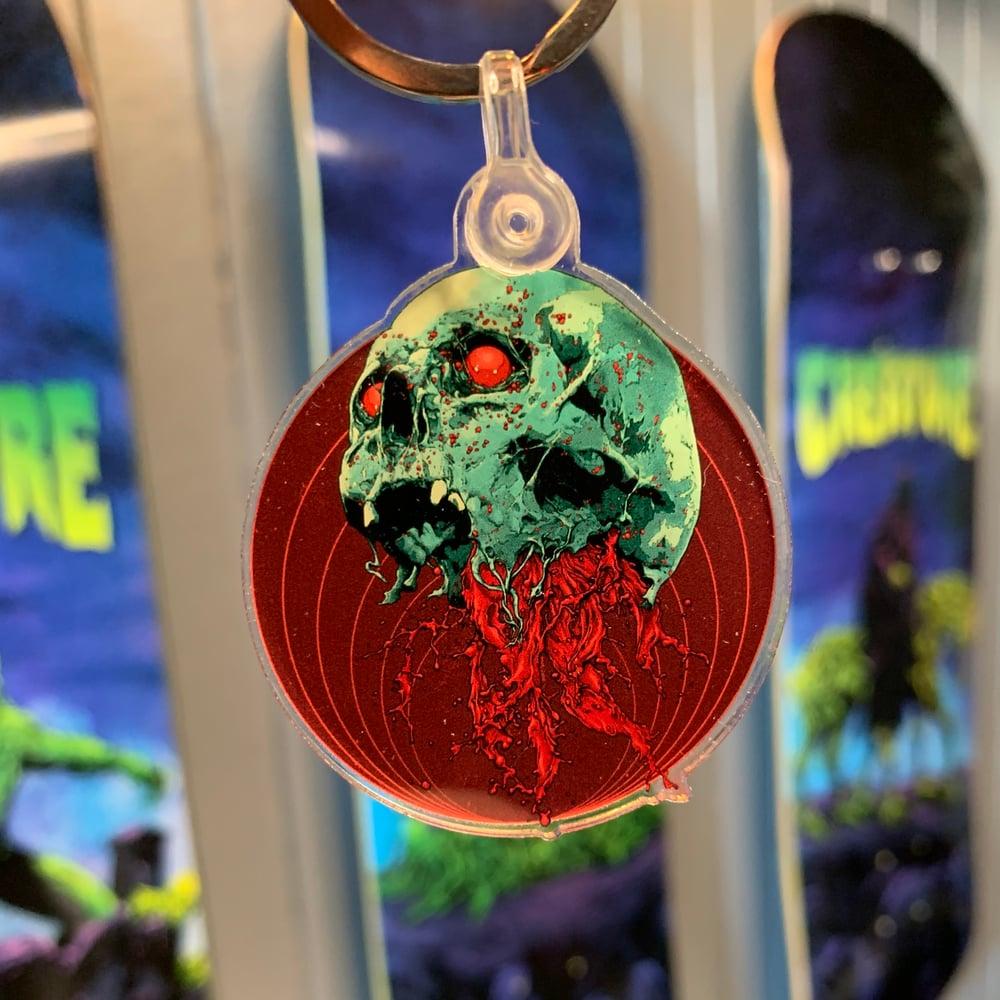 Image of Skull Full Of Blood Keychain