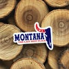 Montana Last Best Place Sticker -Red/White/Blue