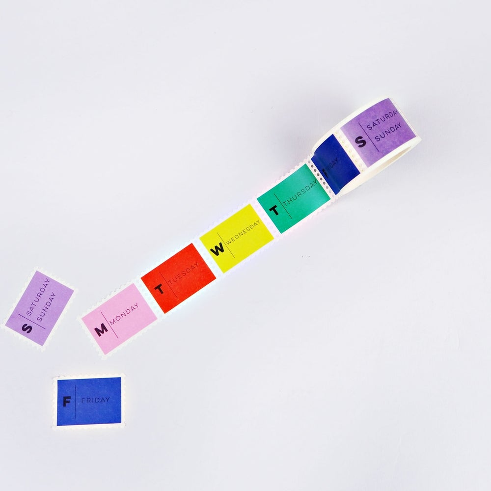 Image of Days of the Week Brights Washi Tape