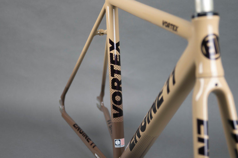 Image of 2021 E11 Vortex frameset in Beige Brown