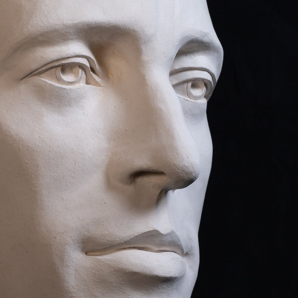 Bruce Springsteen White Clay Sculpture