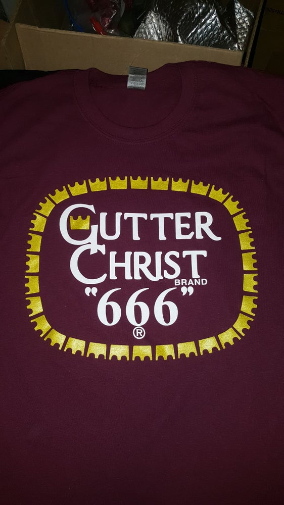 Image of GUTTER CHRIST OLD E RIP T SHIRT (IN STOCK)