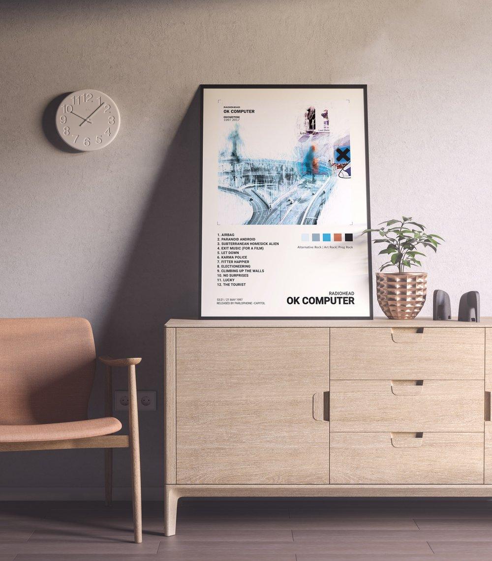 Radiohead - OK Computer Album Cover Poster