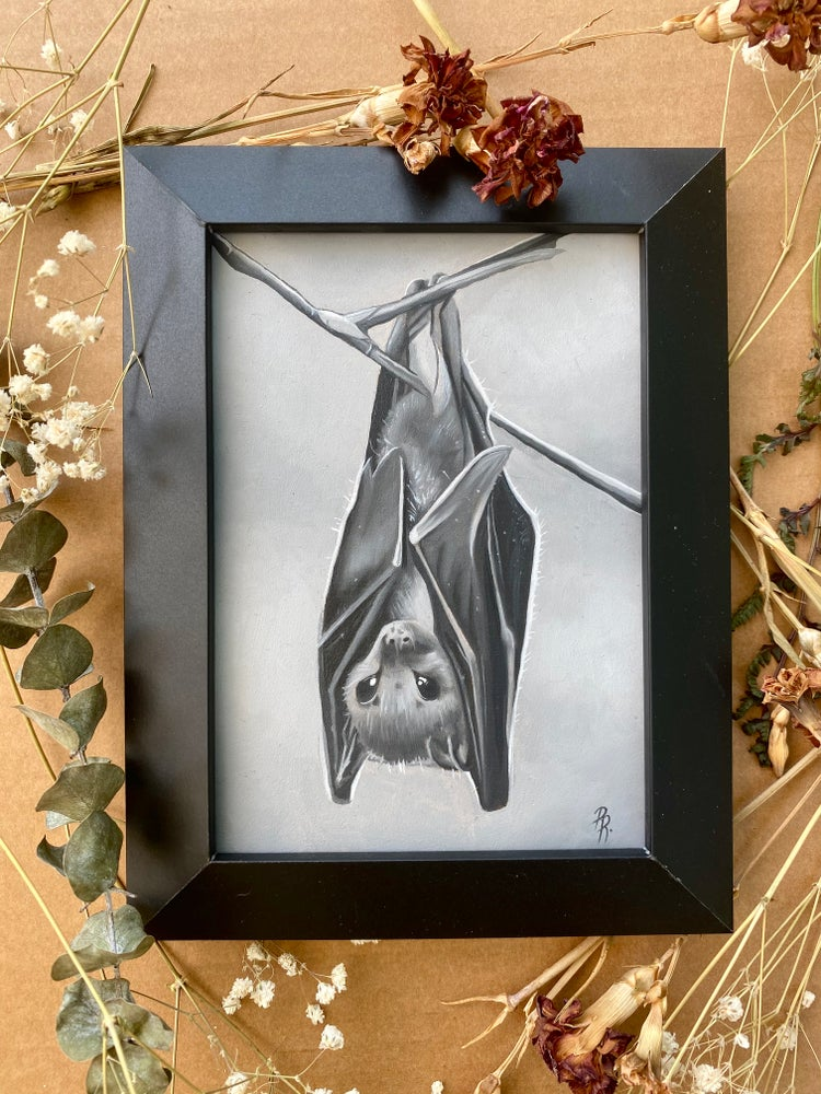 Image of Bat Oil Painting