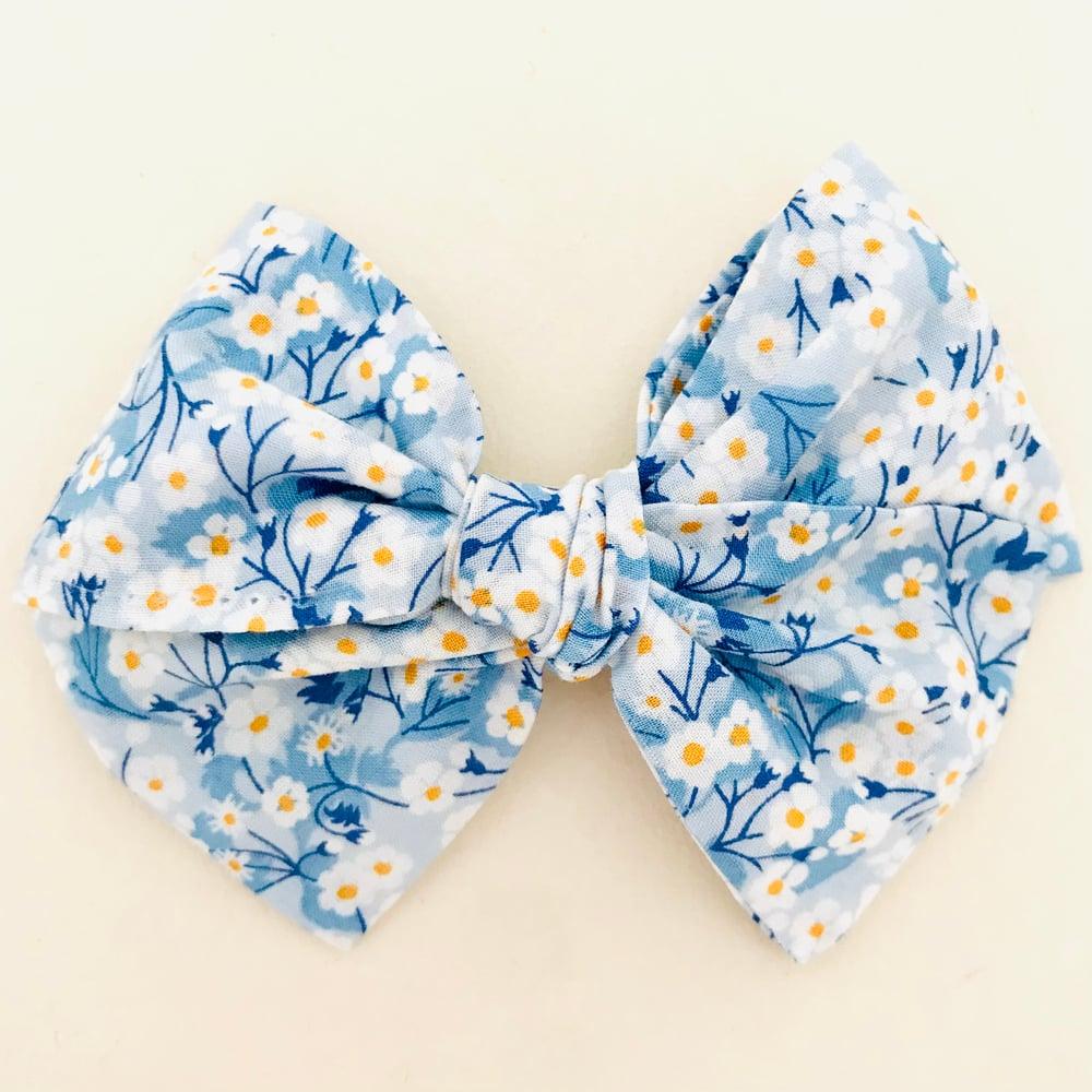 Image of Barrette Liberty Mitsy bleu ciel & moutarde