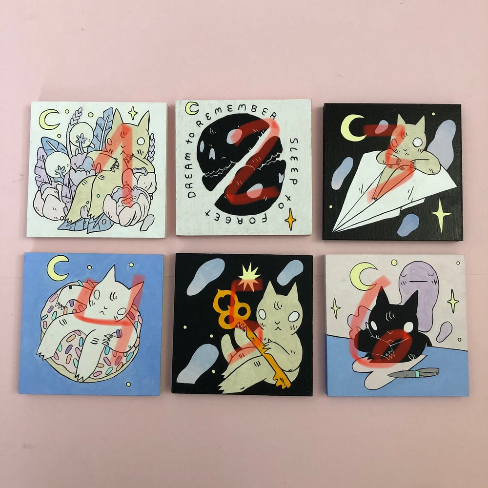 Image of 5x5 Painting Lot (No. 4)
