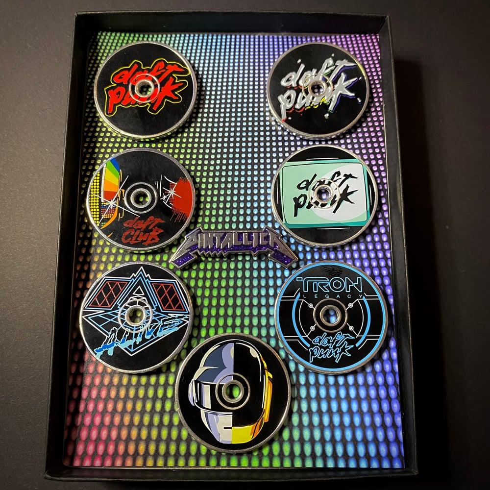 Image of DP Discography (Hard Enamel Pins)