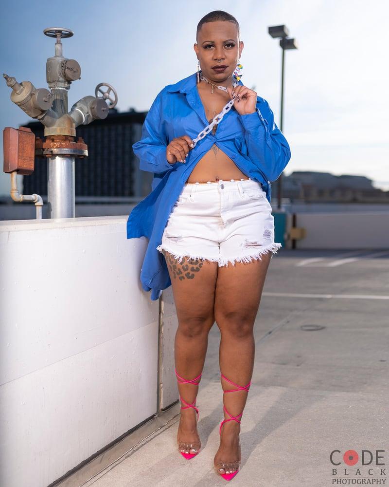 Image of Oversized Blue Top/Dress